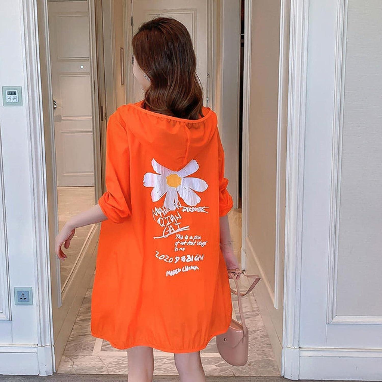HJJACS 4XL Plus Size Women Hooded Clothing Prin Jacket Sunscreen San Jose Miami Mall Mall