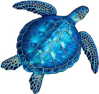 "Sea Turtle Porcelain Swimming Pool Mosaic (10"" x 10"", Blue)"