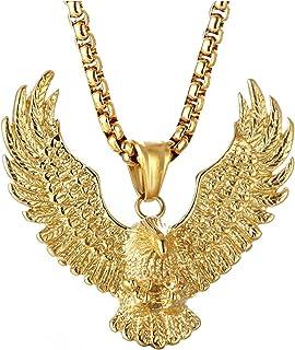 Coole Gothic Tribal Hawk Eagle Halskette Silber Edelstahl Große Anhänger Kette Stahl Plattierter Biker Für Frauen Junge As...