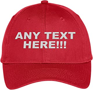 Design Your Own Hat, Personalized Text, Custom Ball Cap, Embroidered with Color Choices