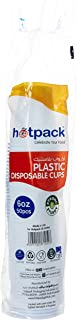 Hotpack Disposable Plastic Cup, 6 oz, 50 Pieces