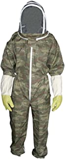 Zimco Cycle wear Adult Beekeeping Suit Bee Pest Suit Beekeeper Suit Veil Camouflage (Medium)