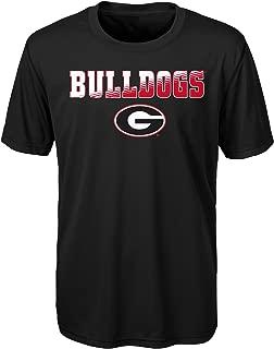 Genuine Stuff NCAA Georgia Performance Short Sleeve Tee, M(10-12), Black