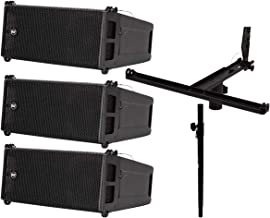 3X RCF HDL 6-A 1400W Line Array Speakers + Pole Mount Kit (Holds 3X) + Sub Pole