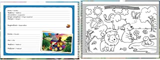 Caderno Espiral Capa Dura Cartografia e Desenho, Tilibra, Académie Kids, 96 Folhas