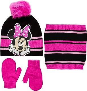 ماوس مینی دخترانه یا کلاه زمستانی منجمد ، دستکش و روسری گیتی سه تکه