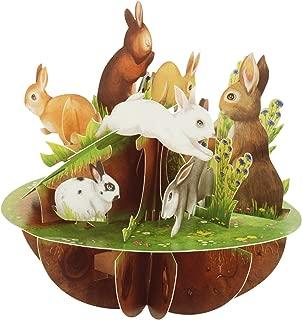 Santoro Pirouettes PS057 Rabbits 3D Pop Up Card, Multi-Color