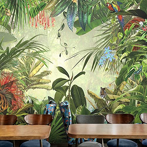 a la venta YYBHTM Papel Tapiz Tapiz Tapiz 3D Foto Papel Tapiz De Parojo 3D Papel Tapiz De Fondo De La Selva Tropical Planta Fondo De Papel Tapiz De Papel Tapiz Inicio  edición limitada en caliente