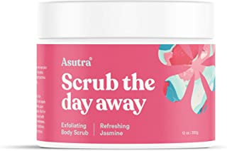 ASUTRA Dead Sea Salt Body Scrub Exfoliator (Refreshing Jasmine), 12 oz | Ultra Hydrating, Gentle, & Moisturizing | All Nat...