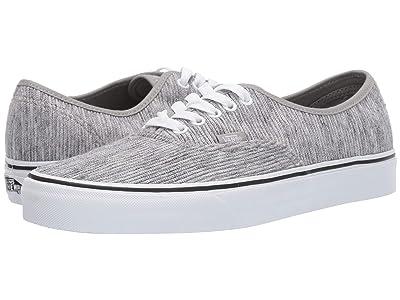 Vans Authentictm ((Rib Knit) Gray/True White) Skate Shoes