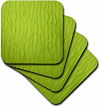 3dRose Lime Green Silk - Soft Coasters, Set of 8 (CST_41533_2)