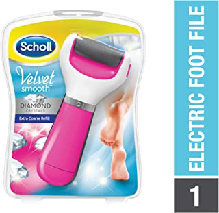 Scholl Velvet Smooth Electronic Foot File with Diamond Crystals Gadget