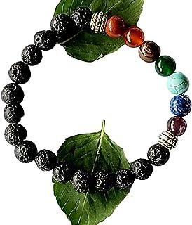Spiritual Bracelet for Positive Energy- Lava Rock Bracelet for Men, Women- Chakra Bracelet- Beaded Jewelry- Anti Anxiety- ...