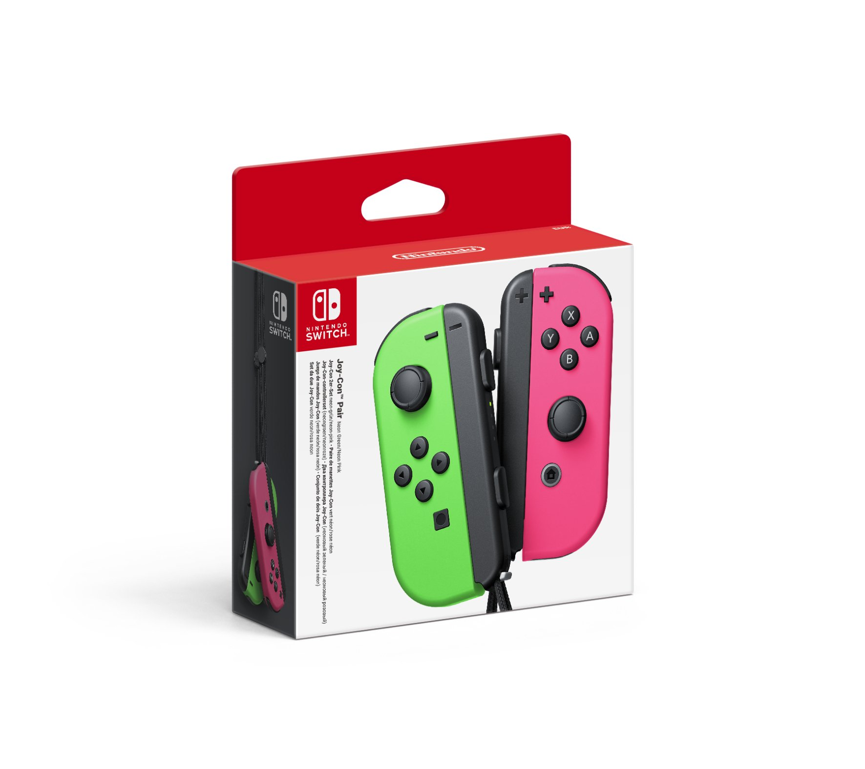 Nintendo - Set De Dos Mandos Joy-Con, Color Verde Neón / Rosa Neón ...