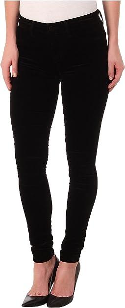 J Brand - Mid-Rise Luxe Velveteen Skinny in Black