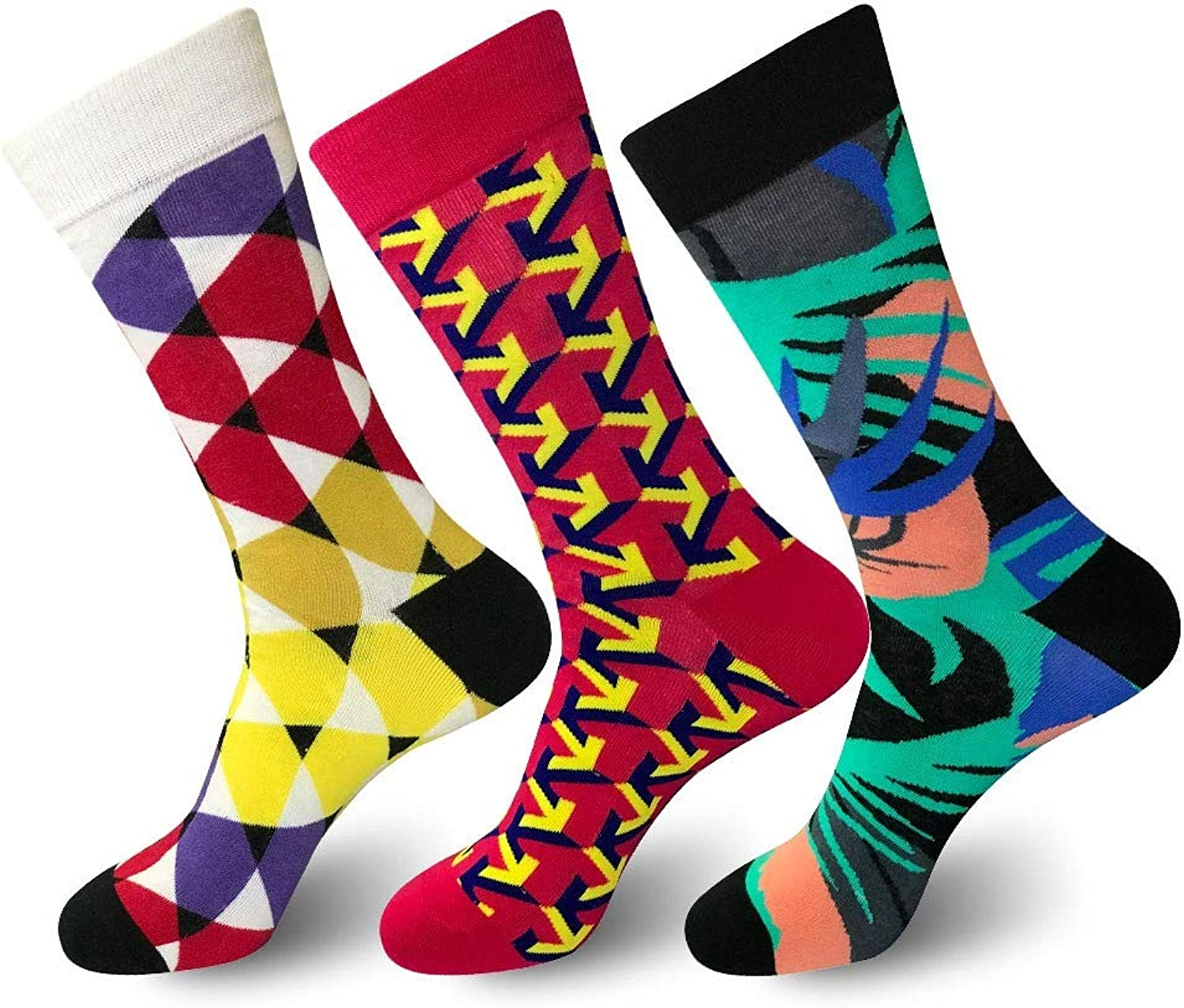 Hyf Socks 3 Pairs Of Autumn And Winter New Men'S Socks Personality In The High Tide Socks