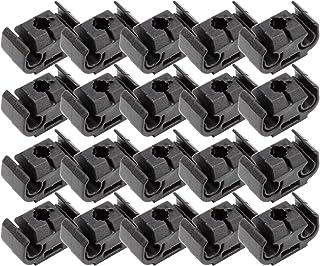 Anladia 40 Stueck Bremsleitung Bremsschlauch Bremsschlaeuche Clip Klammer Halter 2 Fach Klammern 4,75 Haltefeder Schwarz