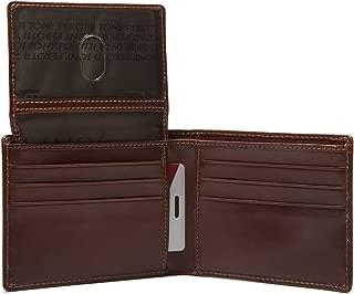 Italian Leather Classic Bifold Wallet with ID Window Flap
