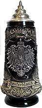 Beer Steins By King - Deutschland German Pewter Coat of Arms Beer Mug 0.3l