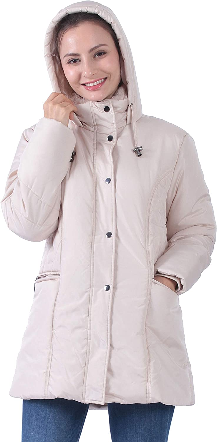 Plusfeel Womens Outdoor Sports Military A Animer and price revision Hooded Windproof Fresno Mall Parka