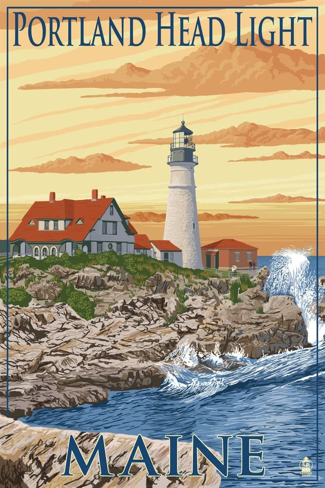 Portland Maine Head Light 33390 Print Large-scale sale 24x36 M New Orleans Mall SIGNED