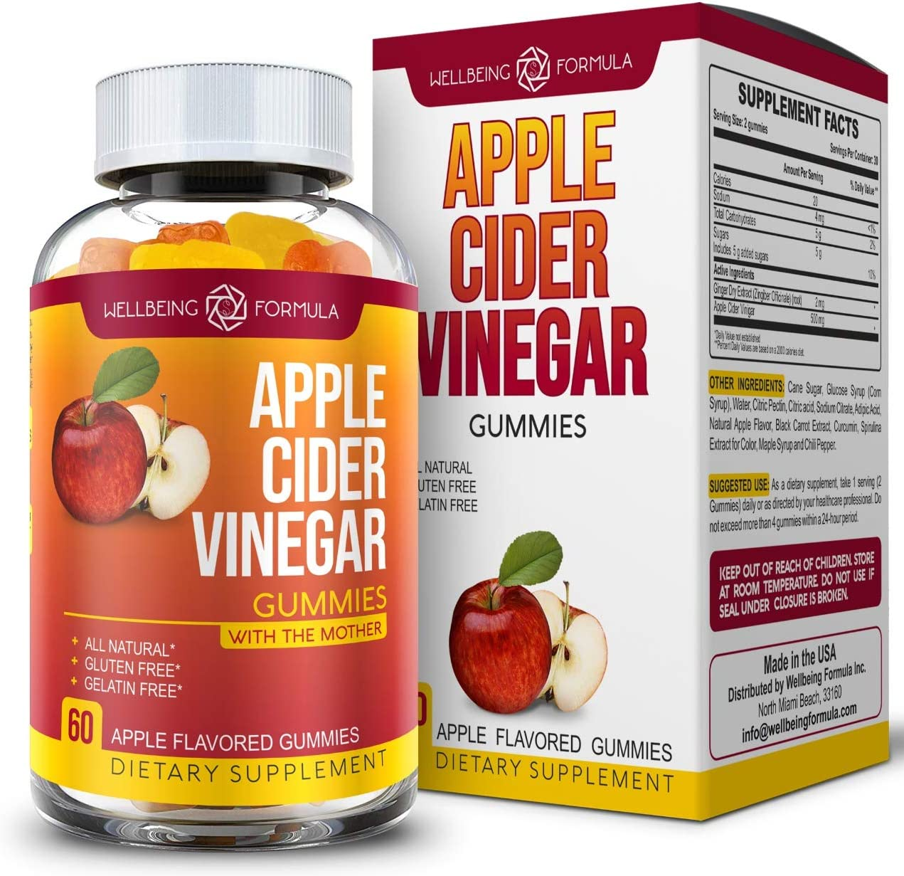 Pure Max 85% OFF Apple Cider Vinegar Baltimore Mall Gummies Ginger-Raw ACV with Unfiltered