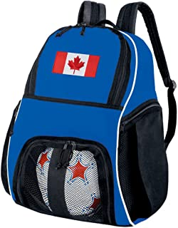 Broad Bay Canada Flag Soccer Ball Backpack Canada Volleyball Bag Travel Practice