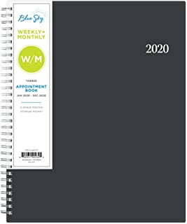 Blue Sky 2020 Weekly & Monthly Appointment Book & Planner, 15-Minute Increments, Flexible Cover, Twin-Wire Binding, 8.5