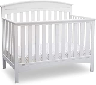 Delta Children Bennington Elite 4-in-1 Convertible Baby Crib, Bianca White, Arched