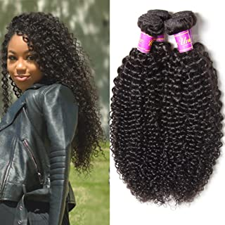 UNice Hair Icenu Series 8a Malaysian Virgin Curly Hair 3 Bundles 100% Unprocessed Remy Human Hair Weave Natural Color (14 16 18 inches)
