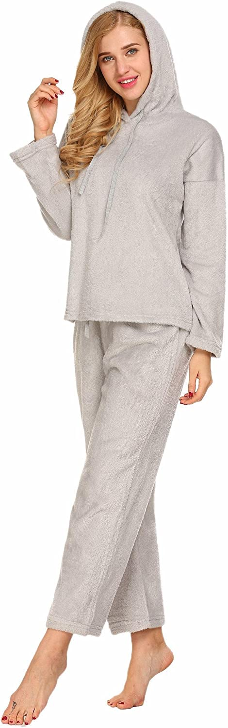 Aimado Plush Robe Womens Fleece Spa Bathrobe Turtleneck Warm Nightgowns SXXL