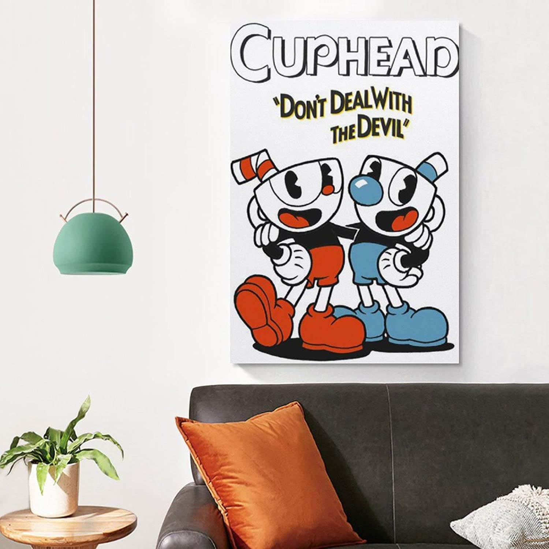 P/óster de lienzo y pared AMINIT Cuphead Game Classic 30 x 45 cm