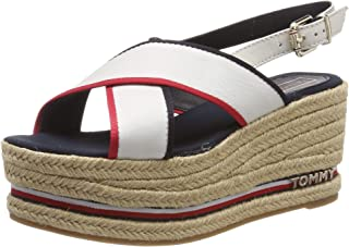 Tommy Hilfiger Flatform Sandal Corporate Ribbon, Sandalias con Plataforma para Mujer