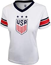 Icon Sports U.S. Soccer USWNT Women's Football Polymesh Tee (Primary White, X-Large)
