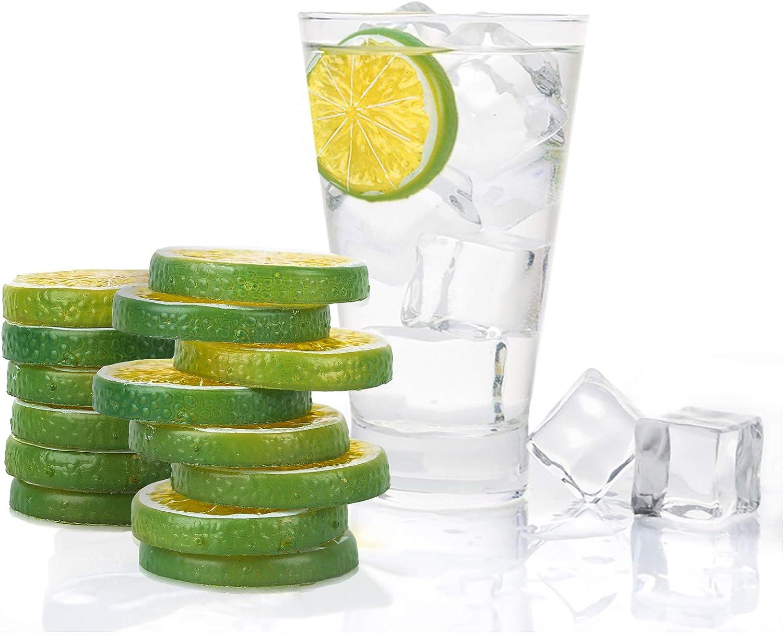 BOMAROLAN Manufacturer OFFicial shop 31 Popular shop is the lowest price challenge Pieces of Artificial Fruit Slices Artifi and Lemons