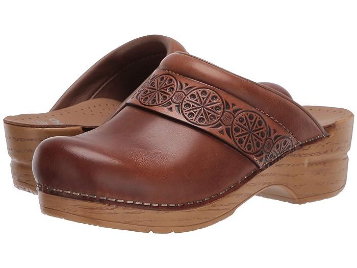 Vintage Heels, Retro Heels, Pumps, Shoes Dansko Saundra Tan Waxy Burnished Womens Shoes $129.95 AT vintagedancer.com