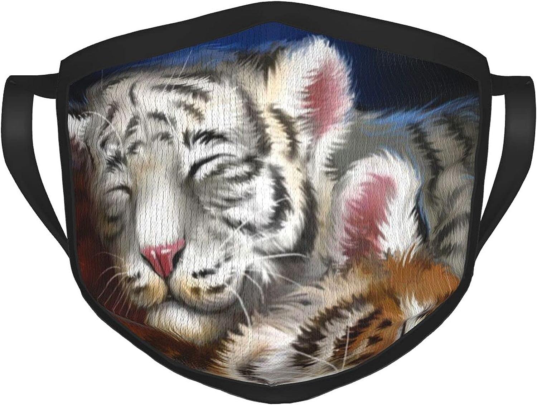 Máscara de borde negro para adultos de Tigres, protección facial portátil, bandana, borde elástico, pasamontañas para hombre/mujer