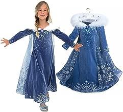Ruimin - Disfraz de Princesa para niña, Color Azul, de la Nieve, de la Reina Elsa