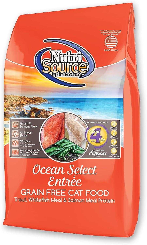 Nutri Source Grain Free Ocean Select Cat Food 2.2lb U.S.A.