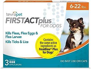TevraPet FirstAct Plus Flea & Tick Prevention for Dogs –...
