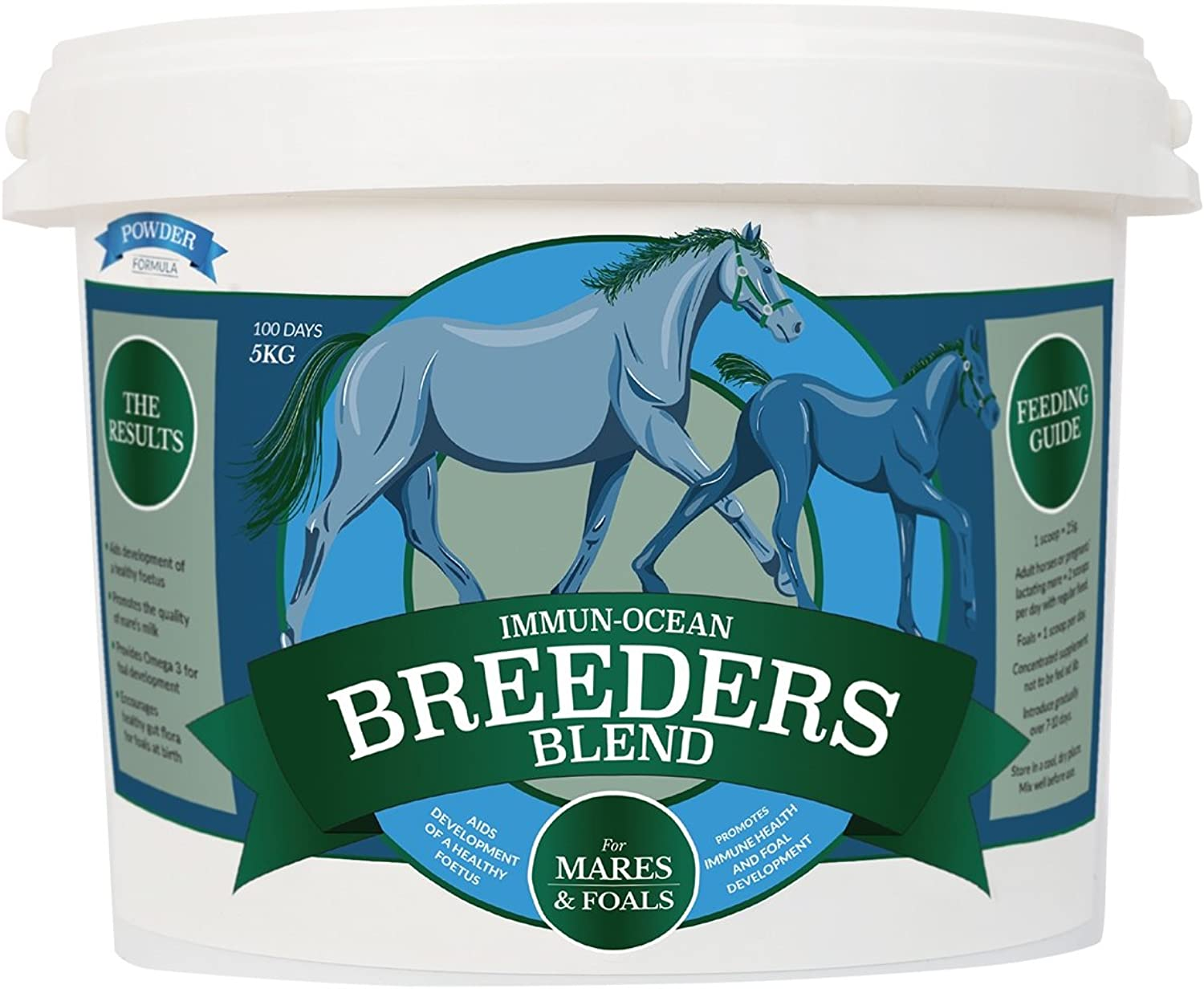 ImmunOcean 100% Natural Premium Horse Supplement Breeders Blend Powder 5KG  Marcro Algae + Balanced Vitamins Minerals = Better Foal Developement & Improved Conception Rates