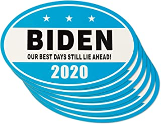 6 Pack Joe Biden Magnet for 2020 United States President - Our Best Days Still Lie Ahead, 5.9 x 3.5 inch Car and Refrigerator Magnetic Bumper Sticker for Patriot and Election Time