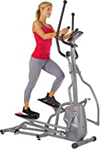 Sunny Health & Fitness Magnetic Elliptical Trainer Machine w/ Tablet Holder, LCD Monitor, 220 LB Max Weight and Pulse Monitor -SF-E3810,Gray
