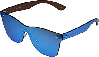 Frameless Rimless Sunglasses Wayfarer style blue