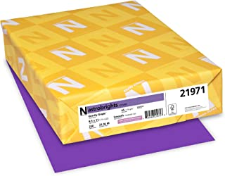 """Astrobrights Colored Cardstock, 8.5"""" x 11"""", 65 lb/176 GSM, Gravity Grape, 250 Sheets"""