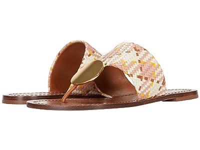 Tory Burch Patos Disk Sandal (Woven/Neutral Woven) Women