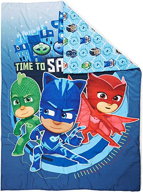 Licensed PJ Masks Toddler Size Comforter Kids Blanket Reversible Design Bedding