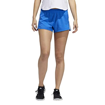 adidas Pacer 3-Stripes Woven Shorts (Glory Blue/Sky Tint) Women