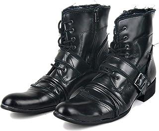 Huegu Bottes Chukka Mode Homme Bottines Chelsea en Cuir véritable Bottines Western Cowboy Bottes Vintage Martin Chaussures...