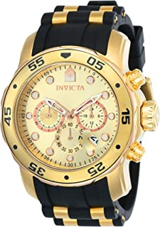 Invicta Men's 17884 Pro Diver 18K Gold Ion Plated Stainless Steel Chronograph Watch